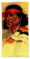 Taos Pueblo Indian Circa 1918 Hand Towel
