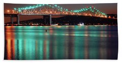Hand Towel featuring the photograph Tappan Zee Refelctions by James Kirkikis