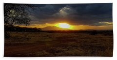 Tarangire Sunset Bath Towel