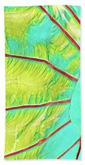 Taro Leaf In Turquoise - The Other Side Hand Towel