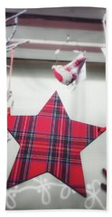 Tartan Star Decoration Hand Towel