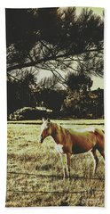 Tasmanian Rural Farm Horse Bath Towel