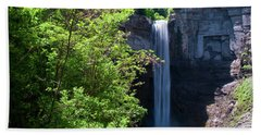 Taughannock Falls 0466 Hand Towel by Guy Whiteley