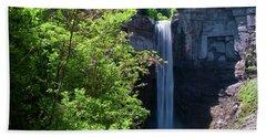 Taughannock Falls 0466 Bath Towel by Guy Whiteley