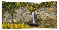 Taughannock Falls Autumn Bath Towel
