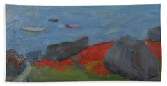 Hand Towel featuring the painting Taunton Bay by Francine Frank