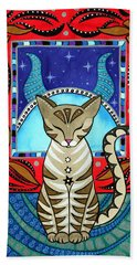 Taurus Cat Zodiac Bath Towel
