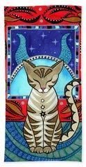 Taurus Cat Zodiac Hand Towel