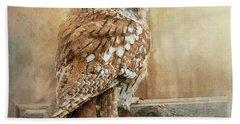 Tawny Owl Bath Towel