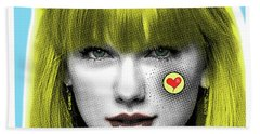 Taylor Swift, Pop Art, Portrait, Contemporary Art On Canvas, Famous Celebrities Hand Towel by Dr Eight Love