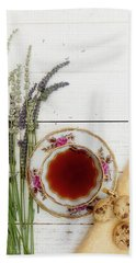 Bath Towel featuring the photograph Tea And Cookies Still Life by Rebecca Cozart