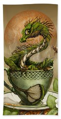 Hand Towel featuring the digital art Tea Dragon by Stanley Morrison
