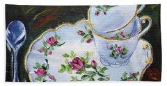 Tea Set Bath Towel by Alexandra Maria Ethlyn Cheshire