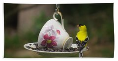 Teacup Finch Bath Towel