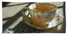 Bath Towel featuring the photograph Teacup On Lace by Brooke T Ryan