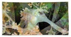 Teal Leafy Sea Dragon Hand Towel