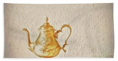 Hand Towel featuring the photograph Teapot  ... by Chuck Caramella