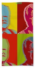 Hand Towel featuring the digital art Ted Kennedy by Jean luc Comperat