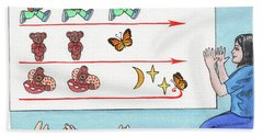 Teddy Bear Game Book Illustration Hand Towel