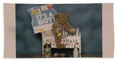 Teddy Bear - Its A Boy Hand Towel