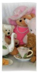 Teddy Bear Tea Party Hand Towel