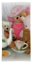 Teddy Bear Tea Party Hand Towel by Kenny Francis