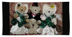 Teddy Bear Wedding Hand Towel