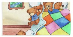 Teddy Bears In The Bed Hand Towel