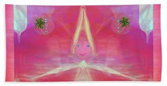 Bath Towel featuring the digital art Tede , Cutsie Little Girl by Sherri Of Palm Springs