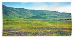 Tejon Ranch Wildflowers Bath Towel