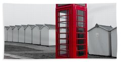 Telephone Box By The Sea I Bath Towel