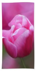 Tell Your Heart To Beat Again - Flower Art Hand Towel