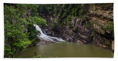 Tallulah Gorge Falls Bath Towel by Sean Allen