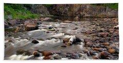 Temperance River Bath Towel by Steve Stuller