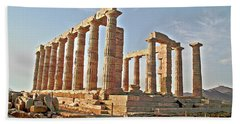 Temple Of Poseidon - Cape Sounion, Greece Hand Towel