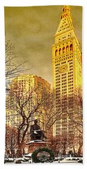 Ten Past Four At Madison Square Park Bath Towel