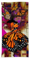 Bath Towel featuring the mixed media Tenderly by Marvin Blaine