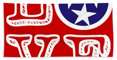 Hand Towel featuring the digital art Tennessee Flag Love by Heather Applegate