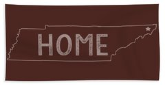 Hand Towel featuring the digital art Tennessee Home by Heather Applegate