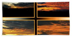 Bath Towel featuring the photograph Tennessee Sunset by EricaMaxine  Price