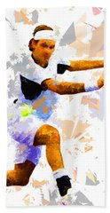Hand Towel featuring the painting Tennis 114 by Movie Poster Prints