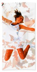 Bath Towel featuring the painting Tennis 115 by Movie Poster Prints