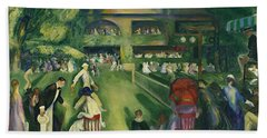 Tennis At Newport Bath Towel by George Bellows