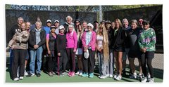 Bath Towel featuring the photograph Tennis Potluck Group Shot by Dan McManus