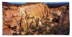 Tent Rocks From Above Bath Towel