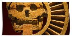 Teotihuacan Skull Bath Towel