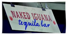 Tequila Bar Sign Bath Towel