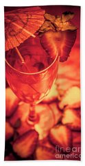 Tequila Sunrise Cocktail Hand Towel