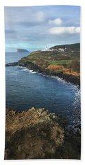 Terceira Island Coast With Ilheus De Cabras And Ponta Das Contendas Lighthouse  Hand Towel by Kelly Hazel