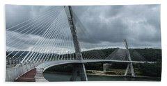 Terenez Bridge I Bath Towel by Helen Northcott